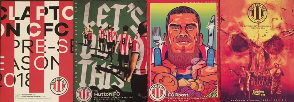 """78ca49c76 The story of Clapton CFC s matchday programme – """"Normal programming will  not resume"""""""